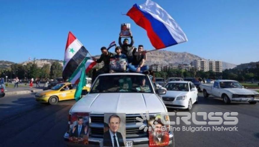 Протестите в Сирия срещу ударите на САЩ