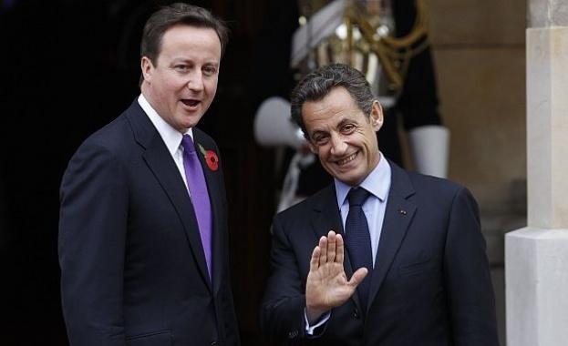 Никола Саркози и Дейвид Камерън