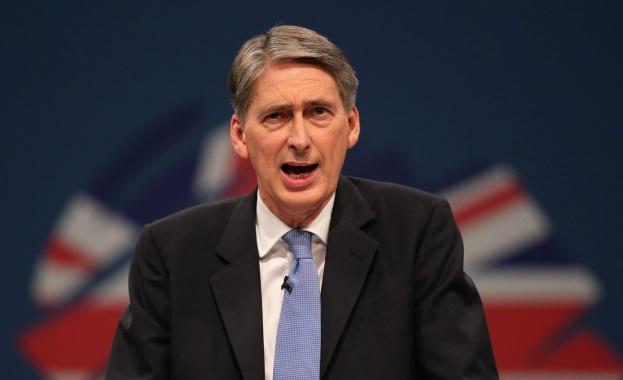 Британският министър на финансите Филип Хамънд потвърди, че Обединеното кралство