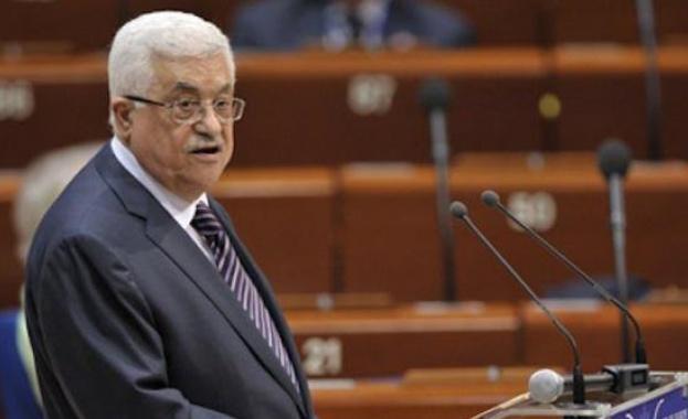 Палестинският президент Махмуд Абас обяви днес скъсването на всички отношения,