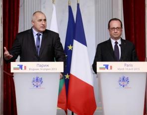 Борисов се срещна с Франсоа Оланд в Елисейския дворец