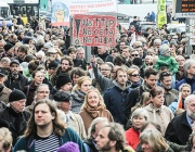 Хиляди европейци протестираха срещу зоната за свободна търговия със САЩ