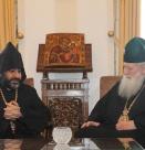 Патриарх Неофит прие първия архиерей на Арменската епархия в България И. Бохосян