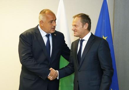 """Б. Борисов пред Д. Туск: Искам ясна позиция на европейските институции за АЕЦ """"Белене"""""""