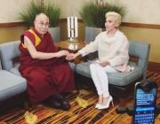 Лейди Гага се срещна с Далай Лама
