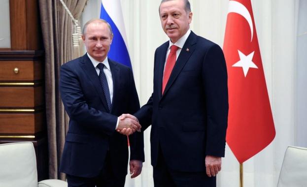 Путин и Ердоган обсъдиха енергийно сътрудничество и ситуацията в Сирия