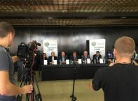 Пресконференция на Народен съюз - Красимир Каракачанав и Явор Нотев