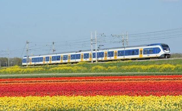 Влаковете в Холандия за първите в света, които се захранват с вятърна енергия