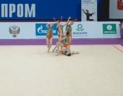 """Ансамбълът ни по художествена гимнастика е втори във временното класиране на """"Алина Къп"""""""