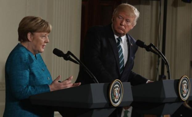Сблъсък между германския канцлер Ангела Меркел и американския президент Доналд