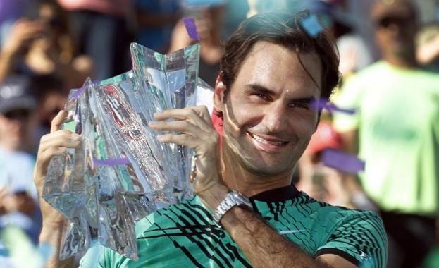 Роджър Федерер триумфира на турнира в Индиън Уелс