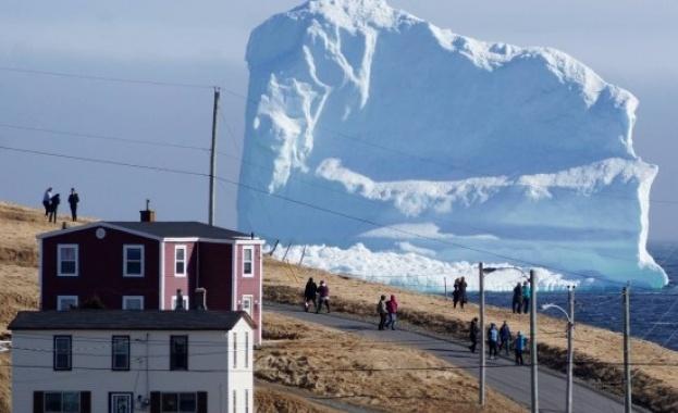 Айсберг предизвика прилив на туристи в Нюфаундленд (видео)