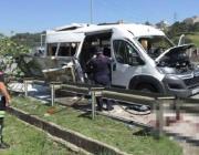 Петима души са пострадали при взрив на микробус край Истанбул (обновена)