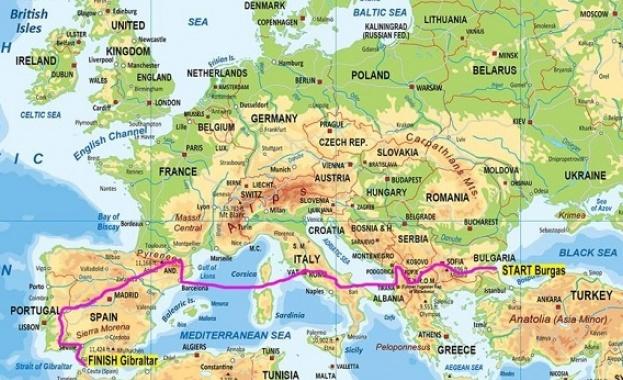Впечатляващият международен туристически мотопоход Черно море - Гибралтар ще стартира