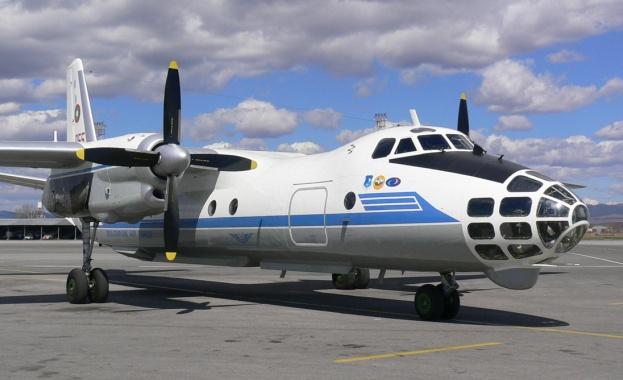 Самолет Ан-30 от състава на българските Военновъздушни сили (ВВС) изпълни