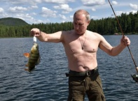 Путин на почивка сред природата