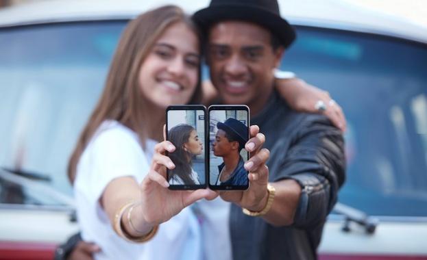 Първият телефон от среден клас, предлагащ минималистичен безрамков FullVision дисплей