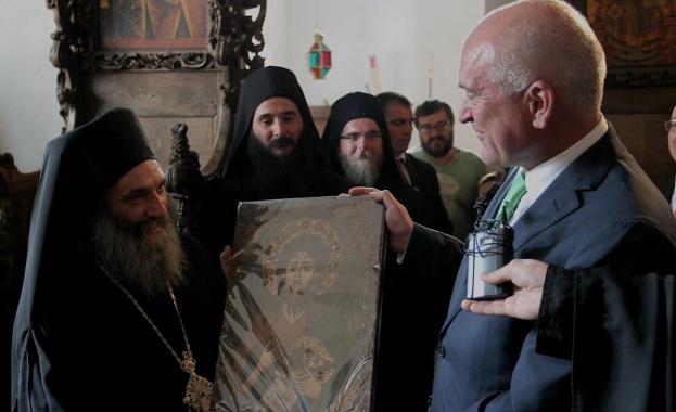 Димитър Главчев посети Бигорския манастир в Македония