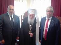 Борисов и руският посланик Макаров в Троянския манастир за Успение Богородично