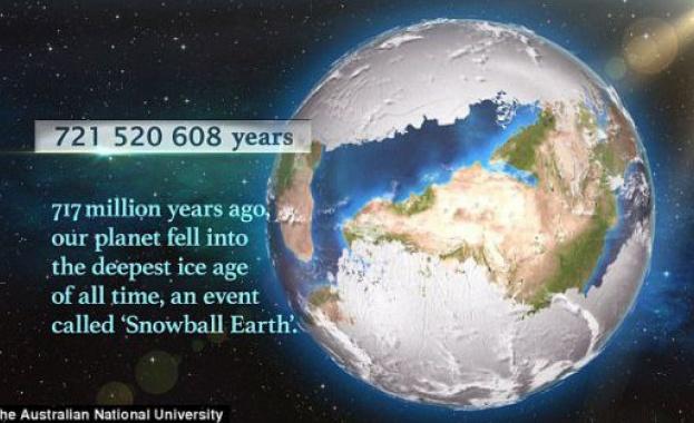 Преди 700 милиона години Земята е била в хватката на