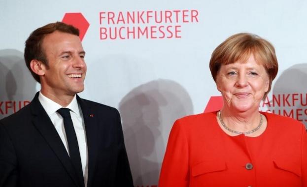 Меркел и Макрон на Панаира на книгата във Франкфурт
