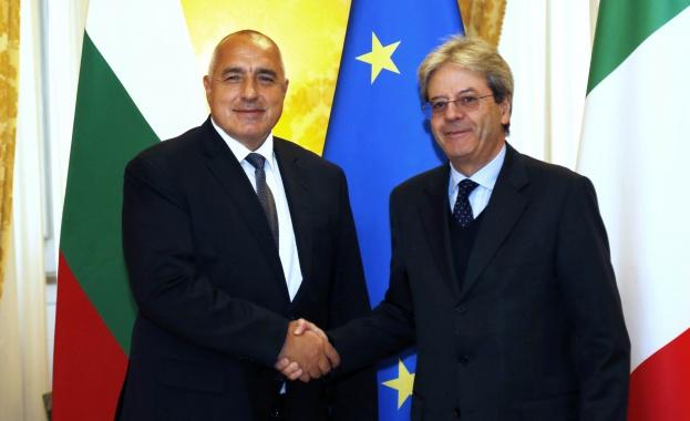 Борисов и Джентилони оцениха високо отношенията между България и Италия