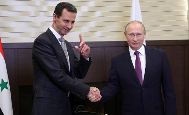 Путин обеща Русия да продължи да подпомага Сирия