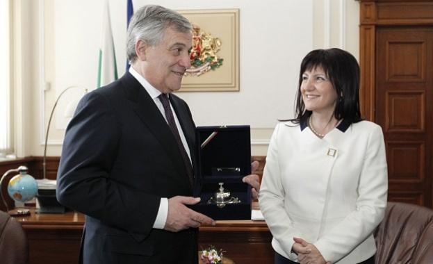 Председателят на Народното събрание Цвета Караянчева се срещна с председателя