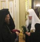Русенският митрополит удостои с орден руския патриарх