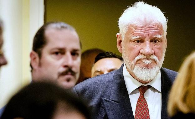 Хърватският генерал и лидер на босненските хървати Слободан Праляк, който