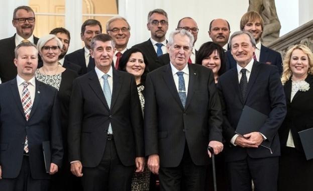Президентът на Чехия Милош Земан назначи ново правителство, оглавено от