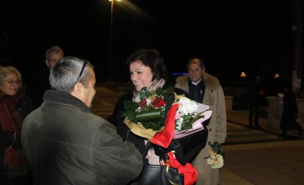 Лидерът на БСП Корнелия Нинова посети Благоевград по случай 104