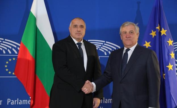 Министър-председателят Бойко Борисов разговаря днес с председателя на Европейския парламент