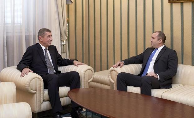 Президентът Румен Радев и премиерът на Чешката република разговаряха днес