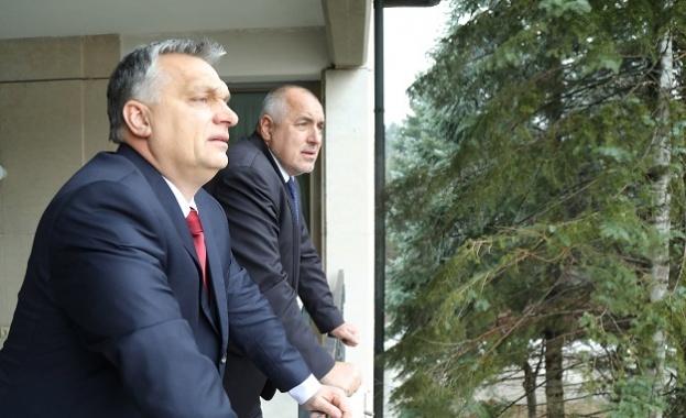 Премиерът Бойко Борисов посрещна унгарския си колега Виктор Орбан в