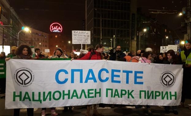 На десети пореден протест срещу застрояването на Пирин излязоха природозащитници