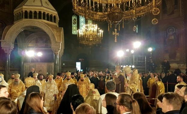 Българският патриарх Неофит и патриарха на Руската православна църква Кирил