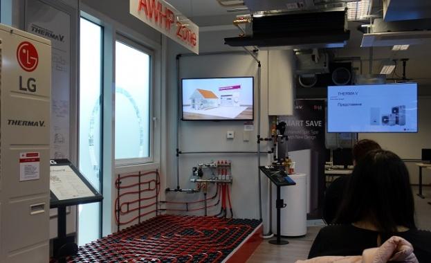 LG представи най-новото поколение виисокотемпературна термопомпена система Therma V