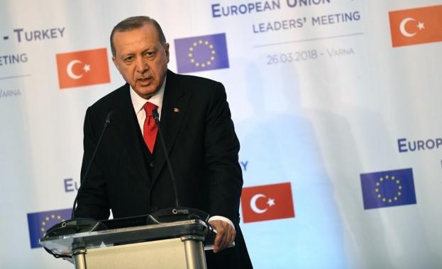 Ердоган: Надявам се периодът на лоши отношения между Турция и ЕС да е останал в миналото