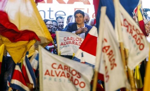 Левоцентристкият кандидат Карлос Алварадо Кесада побеждава на втория тур на