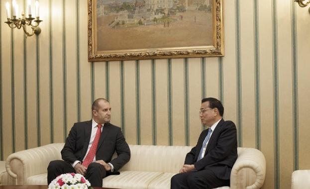 Българският държавен глава призова Китай да увеличи инвестициите си в