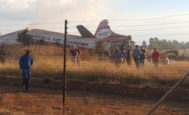20 ранени при самолетната катастрофа в Претория