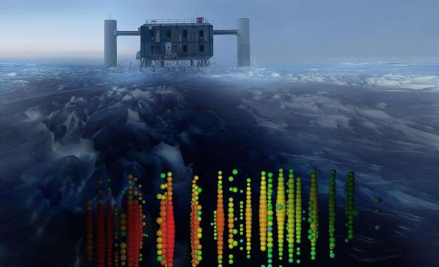 Учени установиха, че високоенергийните частици неутрино, които преминават през космоса,
