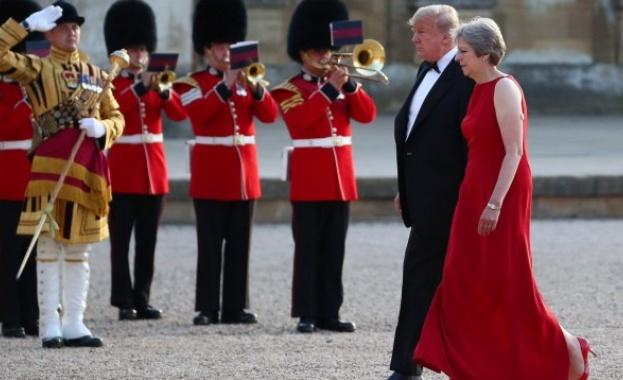 Президентът на САЩ Доналд Тръмп охлади надеждите на британския премиер