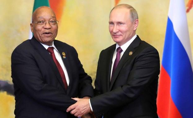 Руският президент Владимир Путин пристигна в ЮАР за среща на