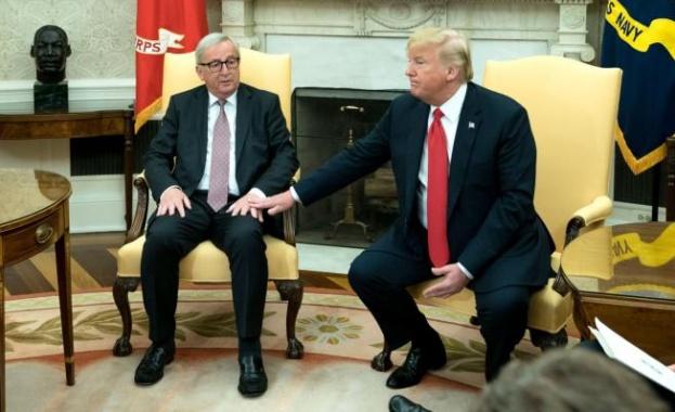 Съединените щати и Европа намалиха напрежението в търговските отношения. След