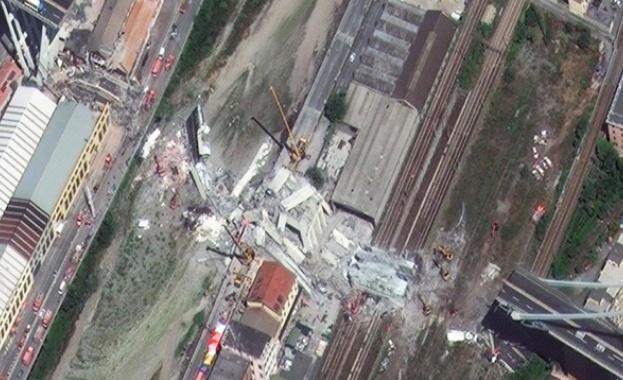 Продължават спасителната операция в Генуа