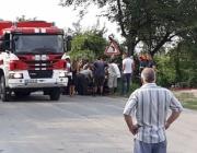 Няма опасност за живота на ранените огнеборци при катастрофа вчера