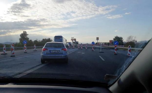 "10-километрово задръстване на магистрала ""Тракия"" заради ремонти"