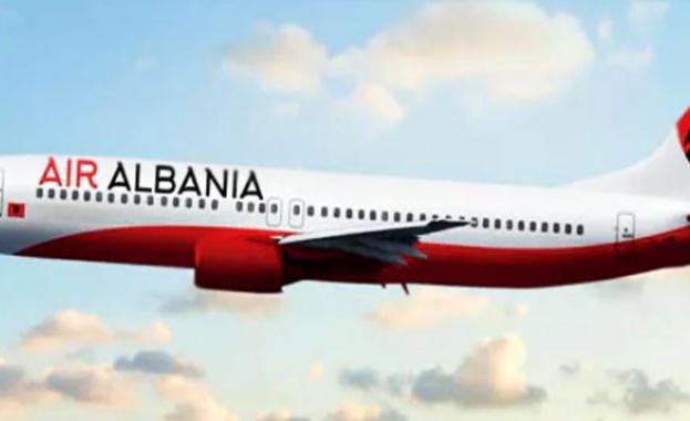 """Новата компания """"Еър Албания"""" осъществи първия си полет"""